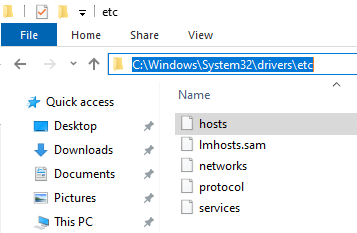 """How to unblock sites without using VPN (Virtual Private Network) - search for the """"hosts"""" file"""