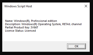 How to view/display installed Windows OS edition