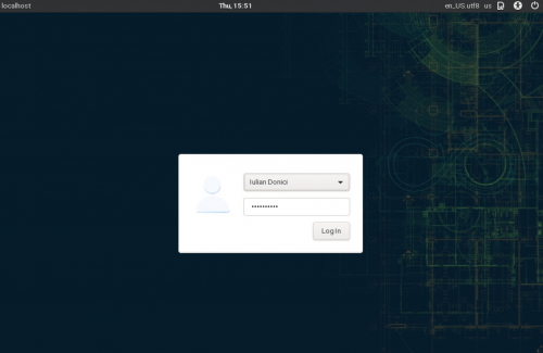 How to install openSUSE Tumbleweed - login screen