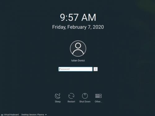 How to install openSUSE Tumbleweed - KDE Plasma desktop login screen
