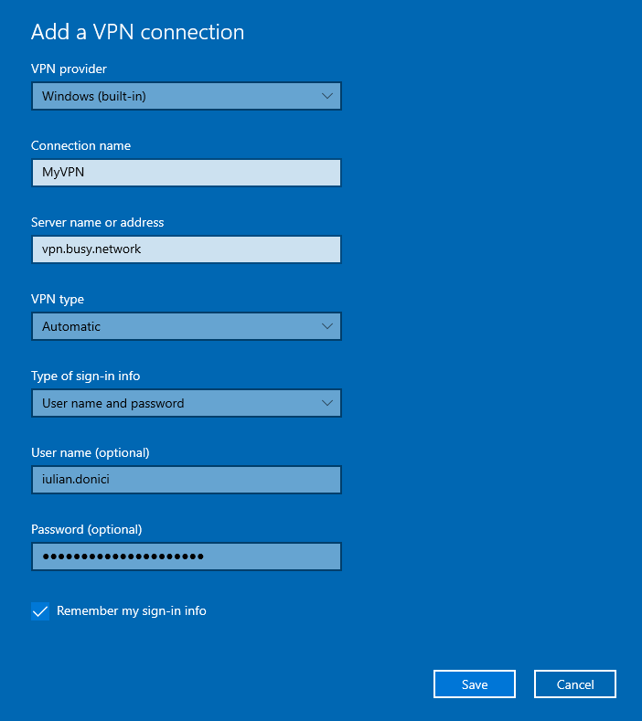 How to create a VPN connection on Windows